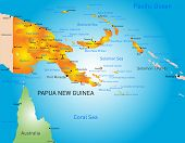 foto of papua new guinea  - Vector color map of Papua New Guinea country - JPG