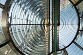 picture of diffraction  - Huge Fresnel lens of the Creach lighthouse in Ushant island - JPG