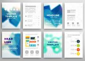 image of wavy  - Set of Vector Brochure Flyer Design Layout Templates - JPG