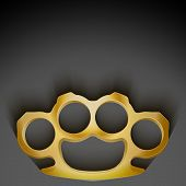 picture of brass knuckles  - Dark Background of crime detective scene with space for text - JPG