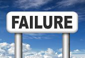 stock photo of fail job  - big failure ends in disaster fail exam test or other attempt failing examination is a disappointment  - JPG