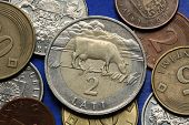 image of cash cow  - Coins of Latvia - JPG