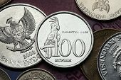 stock photo of palm cockatoo  - Coins of Indonesia - JPG