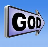 stock photo of salvation  - God and salvation search road to heaven religion god belief and praise the lord  - JPG