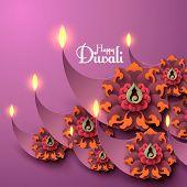 stock photo of diya  - Vector Diwali Diya  - JPG