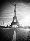View of the Eiffel tower in Paris. Paris beautiful destinations in Europe poster