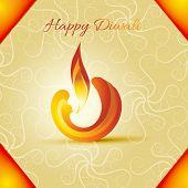 picture of diya  - Vector diwali diya background - JPG