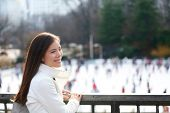 image of late 20s  - Woman in Central park - JPG