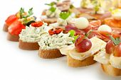 picture of canapes  - Cheese and Meat Canapes - JPG