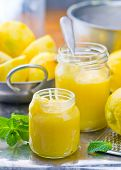 image of curd  - the lemon curd and products for his preparation - JPG