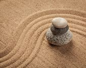 stock photo of relaxing  - Japanese Zen stone garden  - JPG