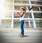 picture of mason  - Sexy mason working on a building site - JPG