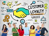 image of loyalty  - Customer Loyalty Service Support Care Trust Casual Concept - JPG