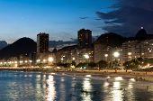 picture of carnival rio  - View of Copacabana Beach at night in Rio de Janeiro - JPG