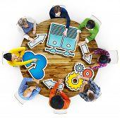 picture of seminars  - Big Data Brainstorming Business Meeting Planning Seminar Concept - JPG