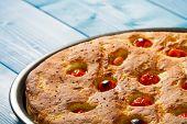 picture of flat-bread  - Typical Italian flat Bread - JPG