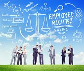 stock photo of equality  - Employee Rights Employment Equality Job Business Communication Concept - JPG