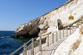 picture of grotto  - Cable car to Rosh HaNikra grotto in North Israel - JPG