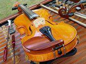 foto of musical instrument string  - violin string instrument a music still life - JPG