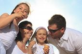 stock photo of lolli  - family eating ici - JPG