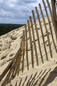 foto of dune  - The Famous dune of Pyla fences - JPG