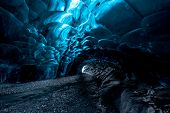pic of cave  - ice cave in Iceland in south - JPG