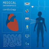 stock photo of defibrillator  - Medical and healthcare infographic - JPG