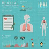 picture of respiratory  - Medical and healthcare infographic - JPG