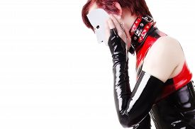 foto of fetish clothes  - Woman dressed in dominatrix clothes - JPG