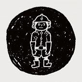 image of fireman  - Fireman Doodle - JPG