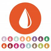 stock photo of drop oil  - The drop icon - JPG