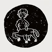 picture of centaur  - Centaur Doodle - JPG