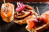 foto of piquillo pepper  - Tapas on Crusty Bread - JPG