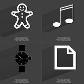 picture of gingerbread man  - Gingerbread man Note sign Wrist watch File icon - JPG