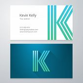 stock photo of letter k  - Design icon letter K Business card template - JPG