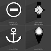pic of wrist  - Minus sign Wrist watch Anchor Checkpoint - JPG