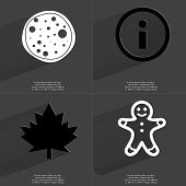 pic of gingerbread man  - Pizza Information sign Maple leaf Gingerbread man - JPG
