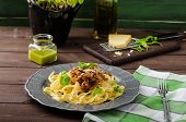 image of celery  - Fettuccine with Bolognese sauce  - JPG