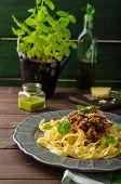 pic of celery  - Fettuccine with Bolognese sauce  - JPG