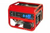 pic of generator  - Portable generator isolated on a white background - JPG
