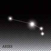 image of zodiac  - Aries Zodiac Sign of the Beautiful Bright Stars Vector Illustration EPS10 - JPG