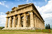 pic of ceres  - Temple of Neptune the famous Paestum archaeological site today unesco world heritage - JPG