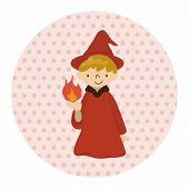 pic of wizard  - Wizard or Witch Cartoon Theme Element - JPG