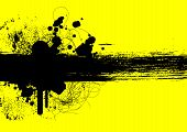 pic of smut  - grunge background with stains and blots on yellow - JPG