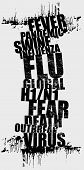 picture of swine flu  - grunge typographic illustration on swine flu issue - JPG