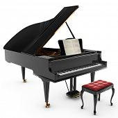 image of musical instruments  - A beautiful classic grand pianio - JPG