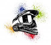 Постер, плакат: шлем плакат растровой vector vector версия в моем портфолио