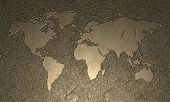 Engraved World Map poster