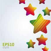 Постер, плакат: Абстрактный фон звезды