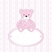stock photo of teddy bear  - Teddy bear for baby girl  - JPG